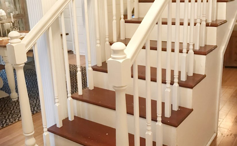 DIY Stair Rail Painting