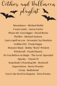 October/Halloween Playlist