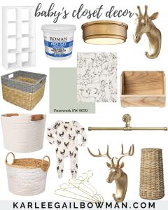 Baby's Closet Essentials & Decor
